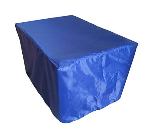 Freizeitmöbel Abdeckung Blauer rechteckiger Tisch und Stühle für den Außenbereich Decken...