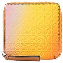 Loewe Mujer 10712SM889074 Naranja Cuero Billetera