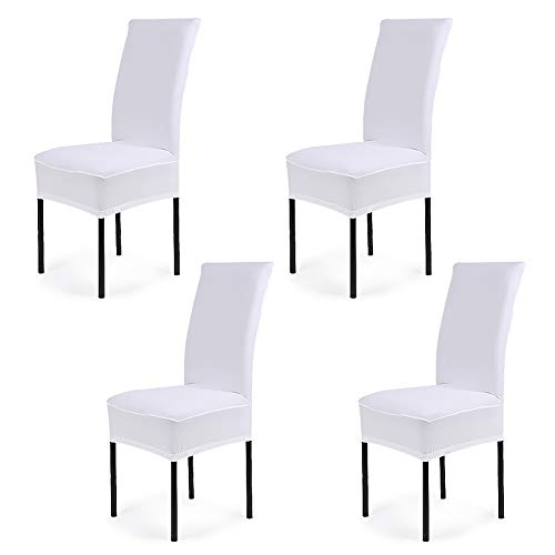 CosyVie - 4 PCS Fundas para sillas de salon fundas elasticas y...