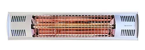 Sonnenstrahl Infrarotstrahler Basic, 1500 W, IP55 Spritzwasserschutz, Heizstrahler, Terrassenheizer mit Wandhalterung