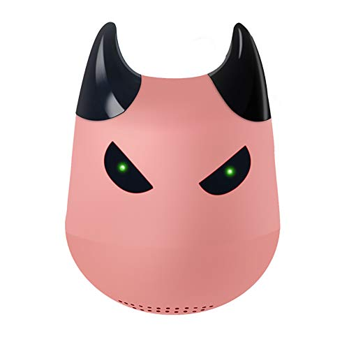 Hywot Mini Tragbarer Kleiner Teufel Drahtloser Bluetooth-Lautsprecher TWS Drahtloser Lautsprecher mit Selfie-Fernbedienungsfunktion, geeignet für Geschenk,Rosegold