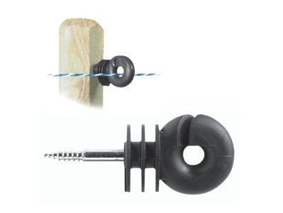 Ring Insulator Screw in Compact - Fence Spinner ,Electric Fencing mix and pick (PACK OF 25)
