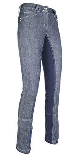 HKM Erwachsene Jodhpur-Miss Blink-1/1 Alos Besatz6169 jeansblau/dunkelblau38 Hose, 6169 Jeansblau/dunkelblau, 38