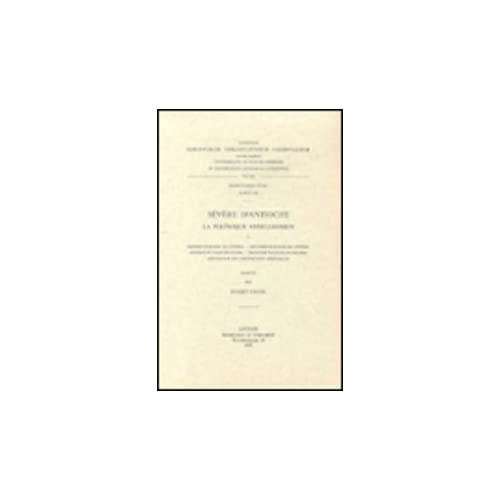 Severe D'antioche. La Polemique Antijulianiste, I. Syr. 105.
