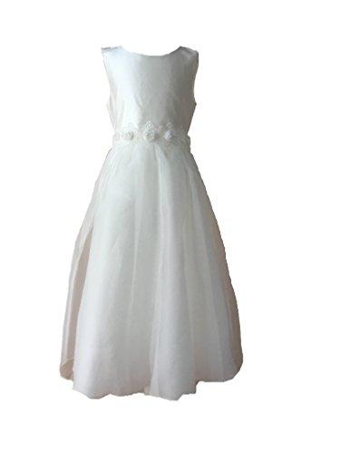 Edel Kommunionkleid aus Seide Kommunion Kleid - Une Hautre Couture (12A (152)) (Couture Kleid)