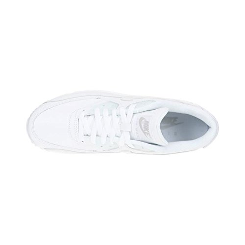 NIKE Baskets Air Max 90 Leather Chaussures Homme 41 - Taille - 41 Blanc