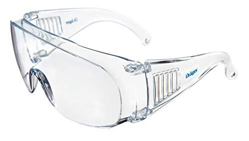 Dräger Schutzbrille X-pect 8110 | Überbrille auch für Brillenträger | Für Baustelle, Labor,...
