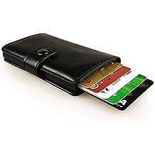 sciuU Cartera Tarjeta de Crédito, Bloqueo RFID, Cartera de Aleación de Aluminio Multiuso Bolsillos