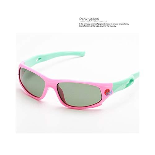Vikimen Sportbrillen, Angeln Golfbrille,Cute Baby Polarisiert Sunglasses Kids Child Girls Boys Sport Goggles TR90 Polaroid Sun Glasses Shades Infant Oculos S816 Gold