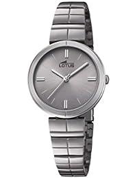b0c32e173993 Lotus Watches Reloj Análogo clásico para Mujer de Cuarzo con Correa en Acero  Inoxidable ...