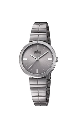 Lotus Watches Womens Analogue Classic Quartz Watch with Stainless Steel Strap 18433/1