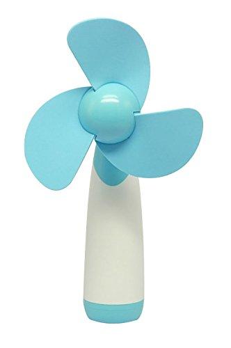 Demarkt Al aire libre personales de mano portátil con pilas del mini ventilador de aire fresco para el hogar y el recorrido(Color Azul)