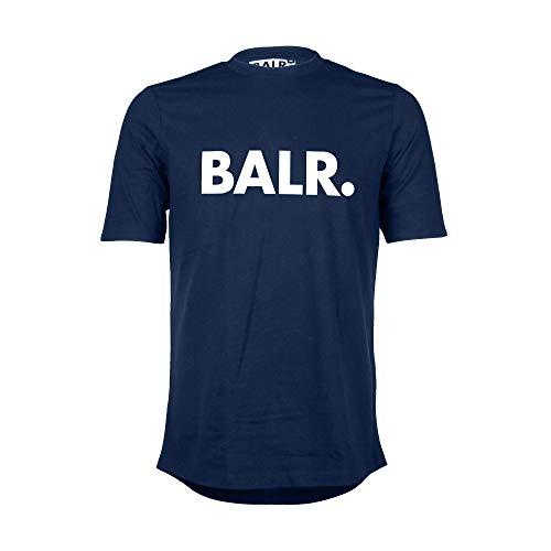 Athletic Fit-t-shirt (BALR. Klassisches Männer Brand T-Shirt mit Athletic Fit aus hochwertiger Baumwolle - Marineblau - M)
