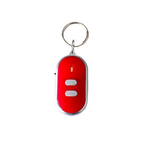 ERMEI Schlüsselpfeife zum Finden eines verlorenen Geräts, elektronischer Schlüsselbund (10 Stück pro Packung) 10 Stück pro Packung - rot-Rot