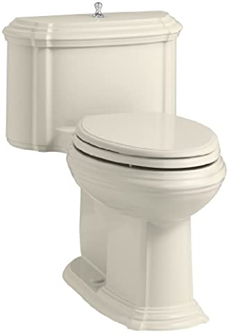 KOHLER K-3826-47 Portrait Comfort Height Compact Elongated 1.28 GPF Toilet with Aqua Piston Flush Technology and Lift Knob Actuator,