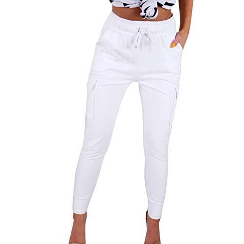 Momoxi Pantaloni Donna Taglie Forti, Pantaloni Lunghi Dritti in Cotone E Canapa Pantalone Yoga con Gamba in Rafano Multicolore, Traspirante E Multi-Colore