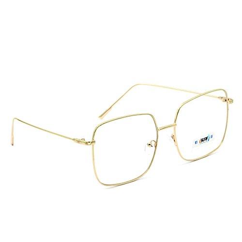 Isurf eyewear occhiali da vista a lente neutra riposante marca modello beverly quadrato donna 2018 (oro lente neutra)