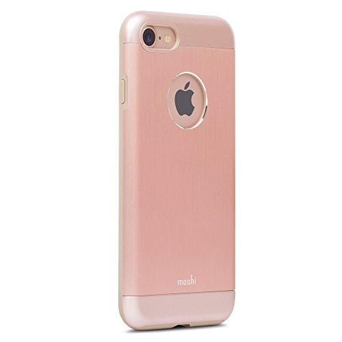 Moshi iGlaze Armour - Funda para Apple iPhone 7, Color Rosa Dorada