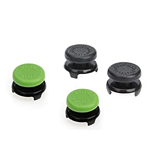 AmazonBasics Xbox One Controller Thumb Grips | 4-Pack, Black and Green