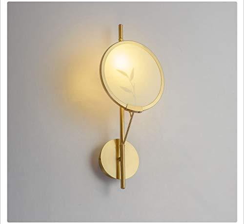 JFFFFWI Wandleuchte, moderner chinesischer Stil Kupfer Bambus Schatten Musterzimmer Wohnzimmer Schlafzimmer Arbeitszimmer Teestube Leicht zu reinigen - Reispapier Schatten