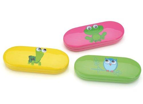 Brillenetui für Kinder <WACKELAUGEN> Frosch | EULE | SCHILDKRÖTE (pink (Frosch))