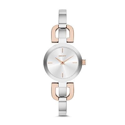 DKNY NY2137 - Reloj de cuarzo con correa de acero inoxidable para mujer, color plateado de DKNY