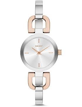 DKNY Damen-Armbanduhr XS Analog Quarz Edelstahl NY2137