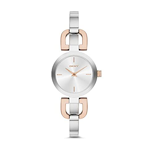 DKNY (DNKY5) Women's Quartz Watch with Silver Dial Analogue Display and Silver Stainless Steel Bracelet