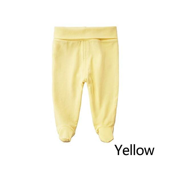 EBILUN Niños Algodón Cintura Alta Pantalones de pie, Leggings Casuales Medias elásticas Pantalones Pantimedias… 2