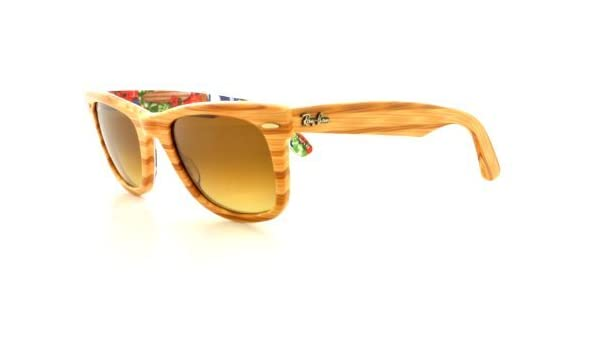 13ad179ee5 Ray Ban RB2140 Wayfarer Sunglasses-1138 85 Wood Text Surf (Brown Grad  Lens)-50mm Sport