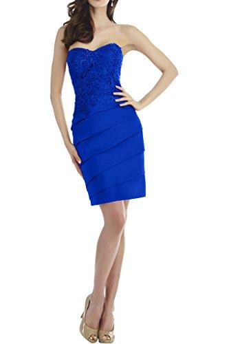 Victory Bridal Attraktve Dunkelrot Stickreien Abendkleider Partykleider Abschlussballkleider Mini Royal Blau