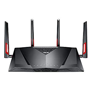 Asus Modem Wireless Gaming Router Vdsl2/adsl2 Ac 3100 Mbps Double Band with Beamforming Airadar and Safety Aiprotection for Life Trendmicro Black AC3100