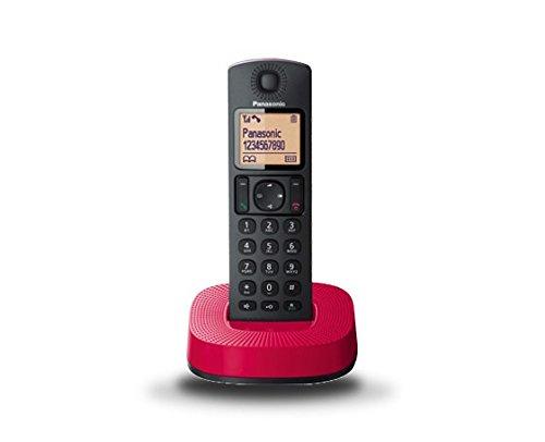 Panasonic KX-TGC310SPR - Teléfono inalámbrico digital (DECT Single, identificación de llamada entrante), rojo