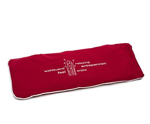 Amago Körnerkissen mit Jersey Bezug, 50 x 20 cm, Rot, 70001-37