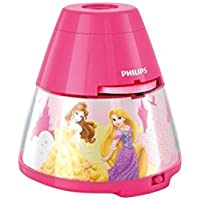 Philips Disney Princess Children's Night Light and Projector Integrated LED, 1 x 0.1 W