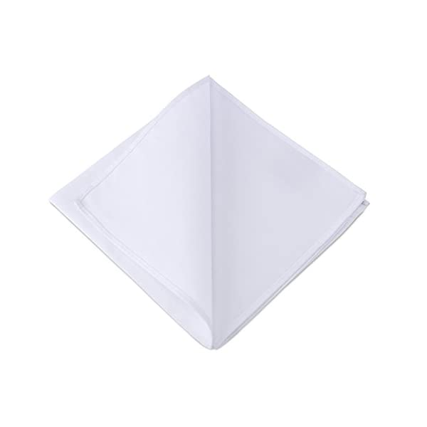 2Clicks - Fazzoletto da uomo di Dapper Pocket Square in 100% cotone, vari colori 2 spesavip