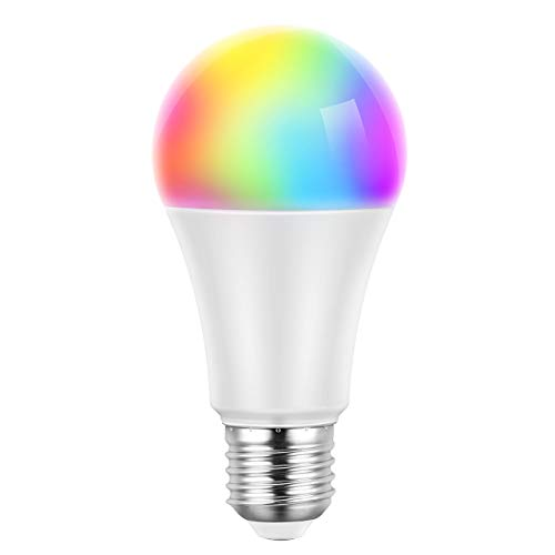 Wifi Lampe, Mpow Smart Wifi Birne E27 LED Lampe Dimmbare Glühbirne, WLAN steuerbar via App, kompatibel mit Alexa/Google Home, Fernbedienung von IOS & Android 16 Millionen Farben [Energieklasse A ++]