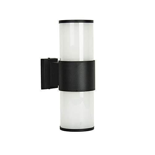 ZLD Outdoor Runde Doppelglas-Wandleuchte LED Außenwandlampe Garten Edelstahl wetterfest warme weiße Wandlampe Macht die Menschen willkommen