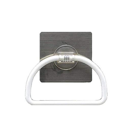 Inchant Porte-serviette de cuisine non adhésive pour salle de bain auto-adhésive, Restickable et lavable torchon / torchon Porte-serviette, plastique, blanc