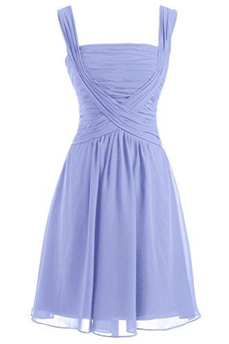 Sunvary U-Ausschnitt Abendkleider Kurz Chiffon Ballkleider Cocktail/Partykleider Lavender