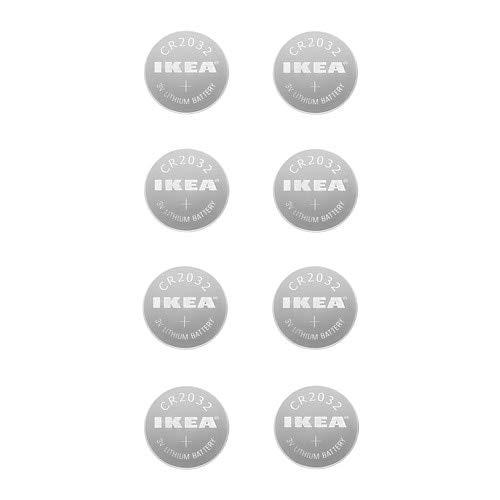 IKEA Batterie Lithium-PLATTBOJ/8/Lot de 8 piles CR2032 3 V