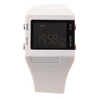 Eton 2818J-WT – Reloj digital de cuarzo para hombre con correa de plástico, color blanco
