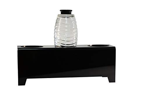flexiPLEX bottleDRY Triple aus PLEXIGLAS® Abtropfhalter und Flaschenständer in schwarz für Glasflaschen