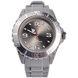 GRAY QUARTZ SILICON /RUBBER STYLE JELLY SPORT WRIST WATCHES UNISEX
