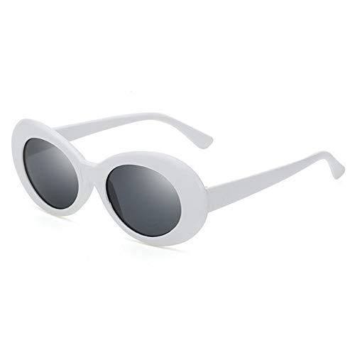 MYTYJ Neueste Kurt Cobain Sonnenbrille Oval Damen Sonnenbrille Vintage Retro Sonnenbrille Frauen Promi Hip Hop Rock Man Clear Goggles (Frauen Für Markenname-sonnenbrillen)