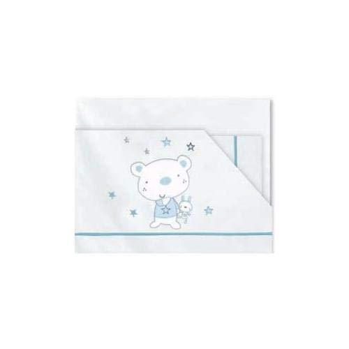 Pirulos orsetto stars-lenzuola flanella maxi, colore: blu