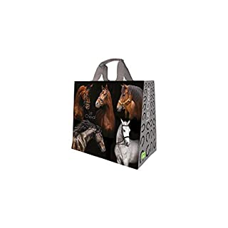 Aucune marque Shopping Bag Woven Horse Design Polypropylene 43 x 20 x 38 cm