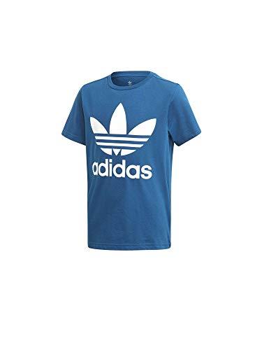 Marine-blau-kinder T-shirt (adidas Kinder Trefoil T-Shirt, Legend Marine/White, 164)