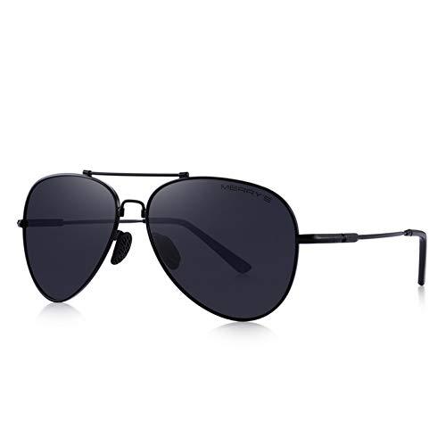YYHV Männer Pilot Sonnenbrille Hd Polarisierte Sonnenbrille Titan Memory Alloy Bridge Uv400 Schutz