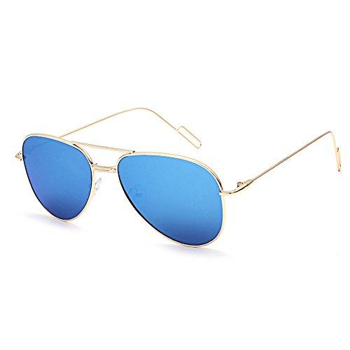LoveLeiter Herren Sonnenbrille Polarisierte sonnenbrille herren verspiegelt Sonnenbrille Metall Rahmen Pack für Kinder Damen runde Gläser für Damen und Herren